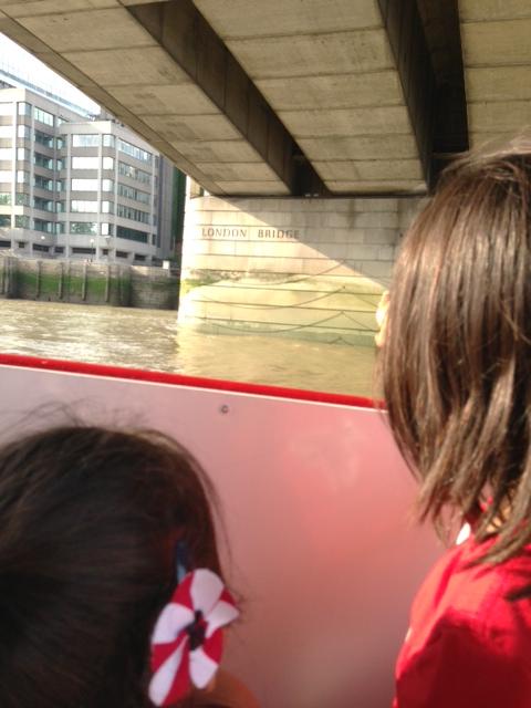Going under the London Bridge.