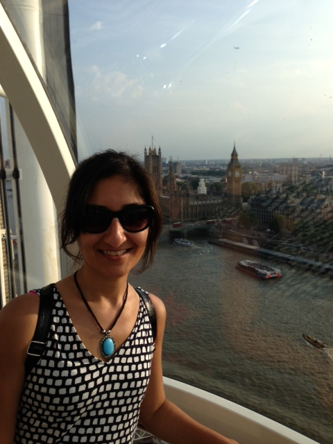 The view of Big Ben and parliament from the London Eye.
