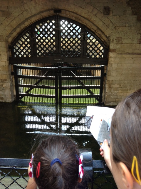 The moat at the Tower of London.