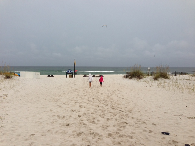 Even in lousy weather, beaches are beautiful.