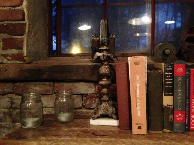 Goat Farm books, candlestick