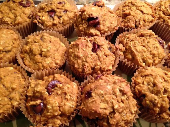 Oatmeal Pumpkin Chocolate Muffins